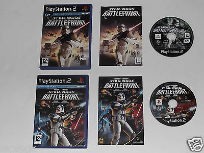 STAR WARS BATTLEFRONT & STAR WARS BATTLEFRONT 2 for PLAYSTATION 2 'ORIGINAL'