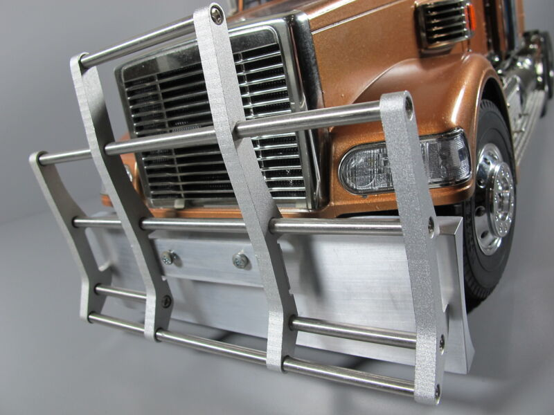 Front Aluminum Guard + Lower Bumper Tamiya 1/14 King Knight Hauler Globeliner