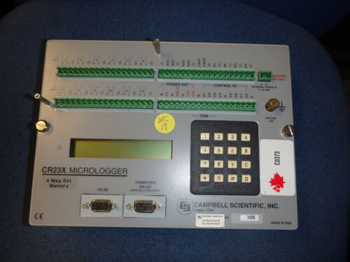 CR23X Campbell Scientific Data Logger with 4 Meg Extended Memory