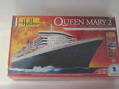 Queen Mary 2 Plastikbausatz m. Farben Kleber Pinsel 1:600 *NEU* Heller