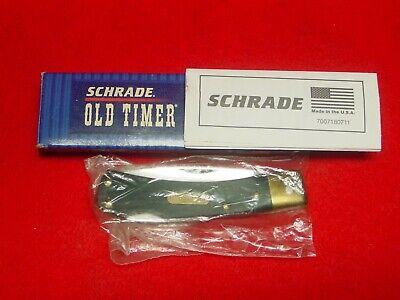 ☠ VINTAGE SCHRADE OLD TIMER 5OTG LOCKBACK KNIFE ( USA MADE ) DROP POINT BLADE ☠