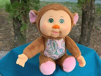 "CPK Cabbage Patch Cuties Sydney Monkey Baby Doll 10"" Plush Stuffed Animal Toy"