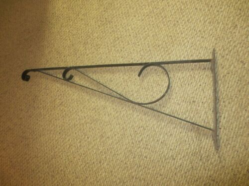 "36"" Wrought Iron Hanging Bracket for Antique Porcelain or Enamel Trade Sign"