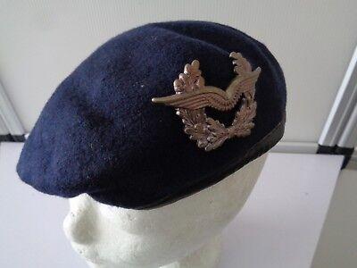 """(74) Original Bundeswehr Barett Blau Gr.57  ohne """"A"""" Reservisten Marine"""