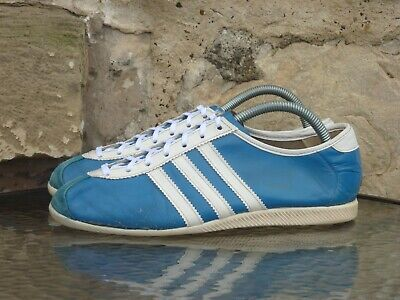 Vintage 1970s Adidas Palma UK 7 Made In West Germany Blue White 70s OG Rare