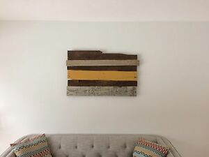 Rustic Chic Reclaimed Wood Wall Hanging