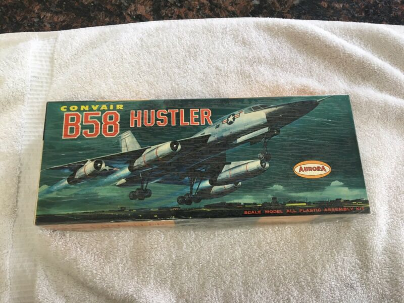VINTAGE AURORA CONVAIR B58 HUSTLER #144 SEALED  1/4 SCALE KIT FROM 1963