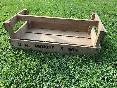 Vintage Cornish Wooden Crate, Potato Tray, Apple Crate Trug Gardening Seed Tray