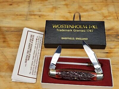 WOSTENHOLM I*XL RODGERS KNIFE WITH SHARPENER SHEFFIELD