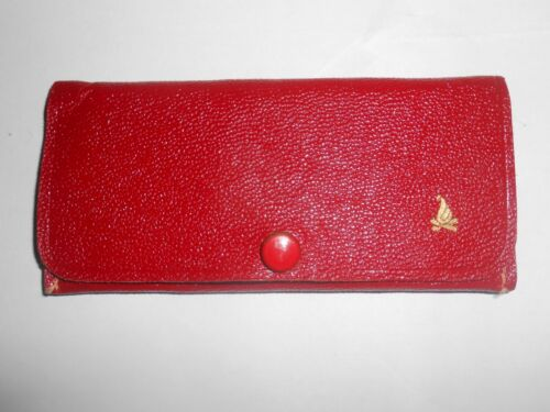 RARE Vintage Camp Fire Girls Genuine Leather Case Compact w/Mirror Nail File