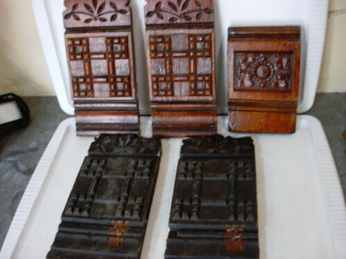 Vintage Wood Trim Architectural Detroit Salvage Decor Lot of 5