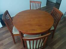 Round Wooden Dining Table - inc 4 chairs Harrison Gungahlin Area Preview