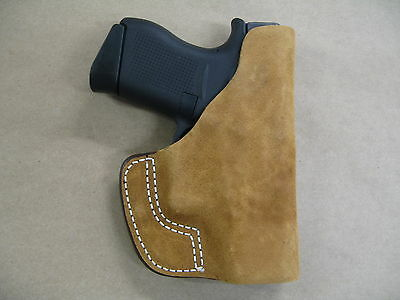 Glock 43 9mm Inside the Pocket Leather Concealment Holster CCW ITP