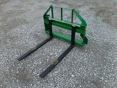 John Deere Tractor Loader Attachment - 42 Pallet Forks 2200 Pound - 179 Ship