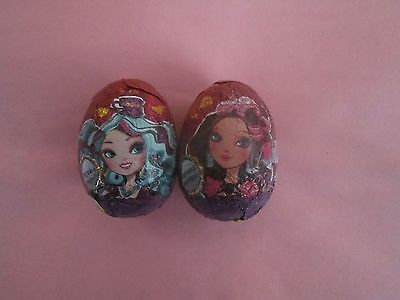2 EVER AFTER HIGH CHOCOLATE SURPRISE EGGS  WITH TOY INSIDE