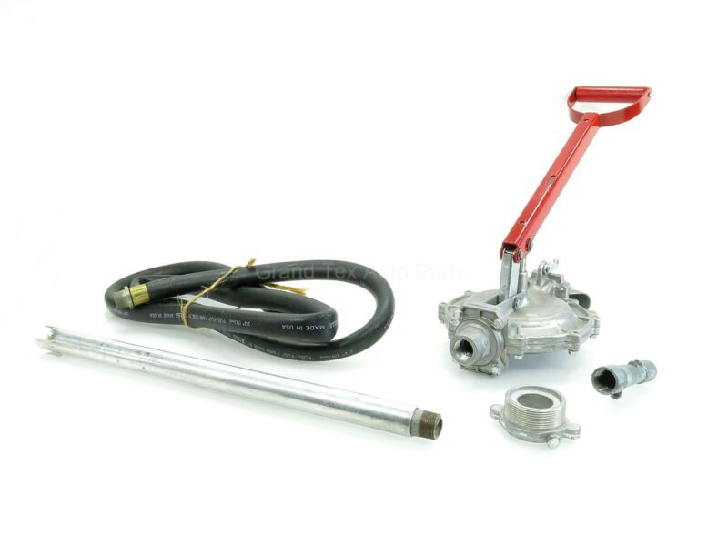 "NEW Lincoln Diaphragm Hand Operated Fluid Transfer Pump 1326 w/ 8"" Hose 16-55Gal"