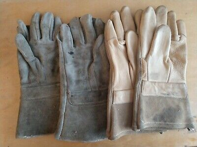 Vintage Welding Gloves 2 Pairs Airco Air Co. Leather