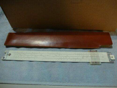 PICKETT MODEL N902-T SLIDE RULE SIMPLEX TRIG TRIGONOMETRY WITH CASE