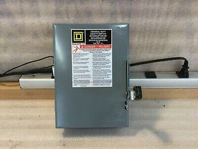 Square-d Du322 Safety Switch 60a 240v 3phase