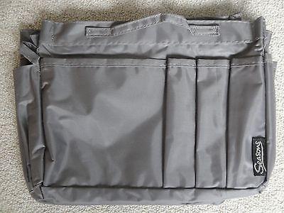 Handtaschen Organizer Taschen Ordnung grau viele Fächer bag in bag TOP