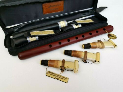 Professional Armenian Apricot Duduk + leather case + 3 reeds