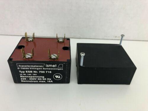 New! ISMET Transformer 700716, 220-400V 16A 700 716