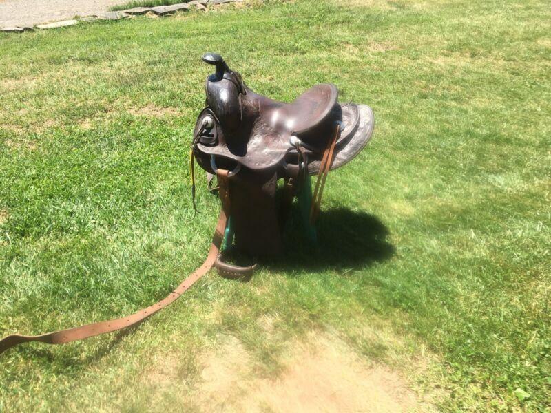Vintage Apache Leather Saddle