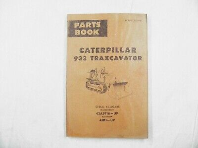 Cat Caterpillar 933a Parts Manual Book 42a5918-up