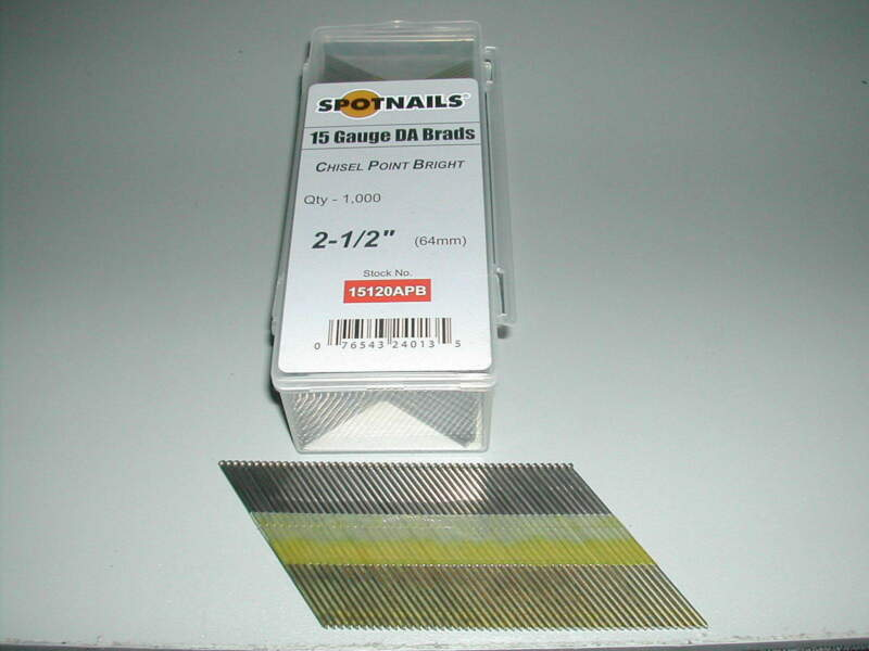Spotnails 15120APG 15 Gauge Finish Nails 2 1/2 DA 34 Degree Galvanized (1,000)