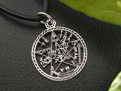 Tetragrammaton 925'er Silber Anhänger + Echtlederband Gothic  / KA 087