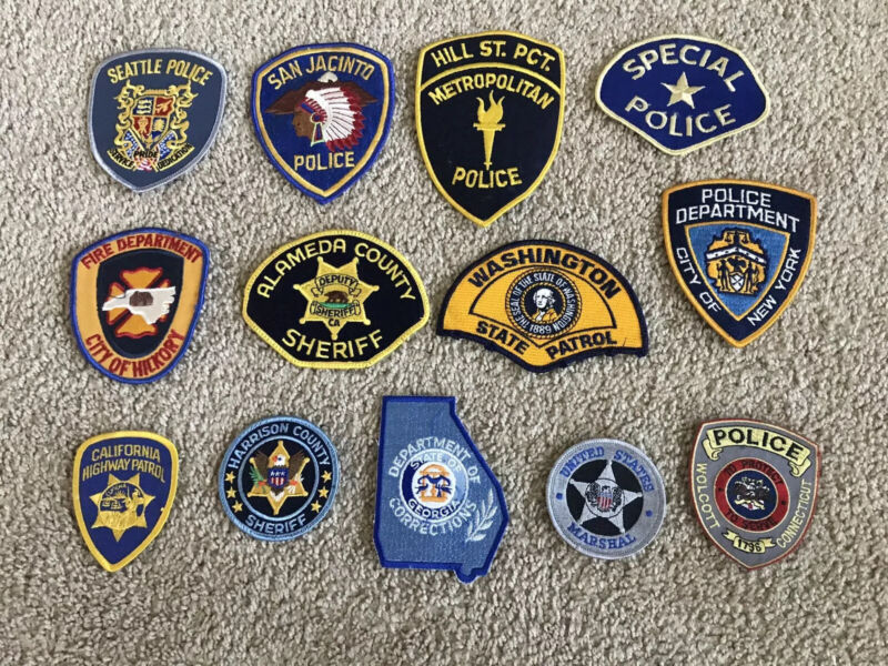 Vintage Police Dept Patch Lot Of 13
