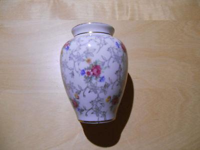 Antike Vase Royal Bavaria Porzellan Germany  Veilchen Rosen Goldranken