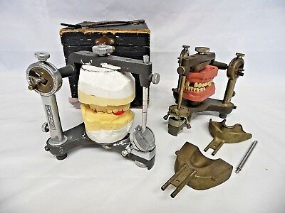 2 Vintage 1960s Hanau Articulator Model H2 Orthodontic Dental Medical Oddity