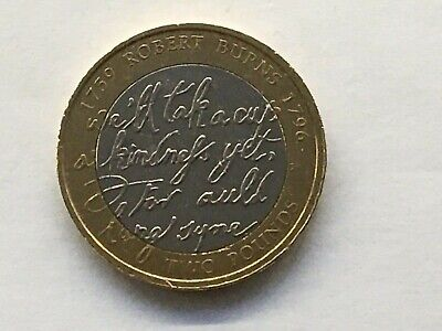 2009 Robert Burns £2 Two Pound Coin Circulated