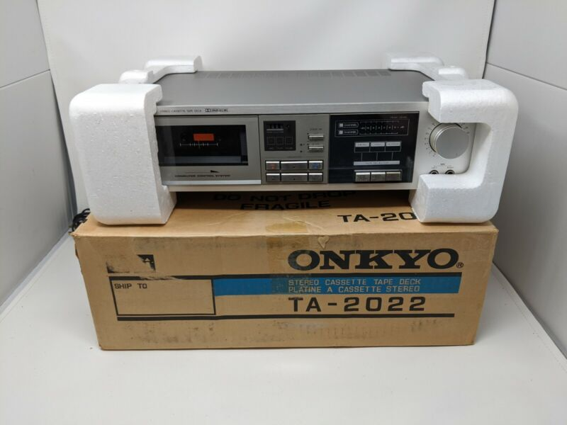 Onkyo TA-2022 Stereo Cassette Tape Deck Japan in original box. CLEAN