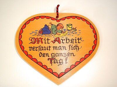 Lustige Spruchtafel aus Holz NEU Sinnspruch Thema Arbeit