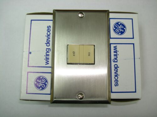 Vintage GE RP311 Single Gang 1G Wall Cover Plate Stainless Steel Low Voltage RCS