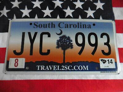 US SOUTH CAROLINA JYC 993 PALME AUTO CAR KENNZEICHEN NUMMERNSCHILD PLATE TAG USA