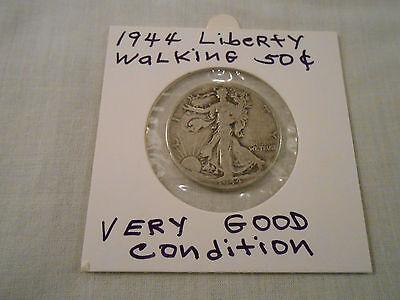 COIN:USA: 1944 Liberty Walking Half Dollar: 1 Coin:Silver/Circulated/Original