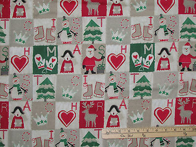 Craft Paper Christmas Blocks Reindeer Windham Fabric  by the 1/2 Yard  #41495 Fabric Craft Papers