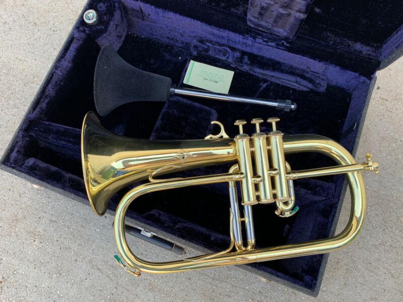 Couesnon Star Paris Flugelhorn Gold & Silver Plated w/ Hard Case Mouthpiece