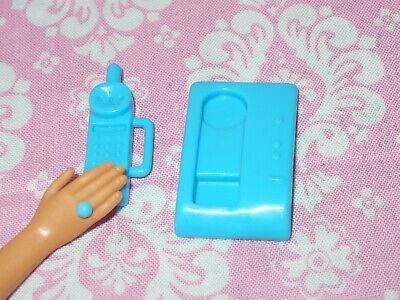 Mattel Barbie Doll Accessory Lot TURQUOISE BLUE TELEPHONE 2 pc Dream House