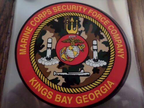 U.S MILITARY MARINE CORPS SECURITY FORCE COMPANY KINGS BAY GEORGIA WINDOW DECAL