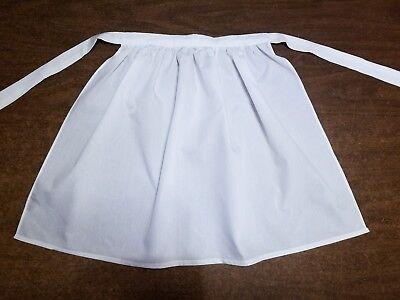 Girls White Pioneer Apron Prairie Colonial Historical Costume Accessory  - Pioneer Girls Costume