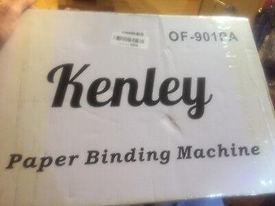 Kenley Paper Binding Machine Paper Punch Binder---still In Box