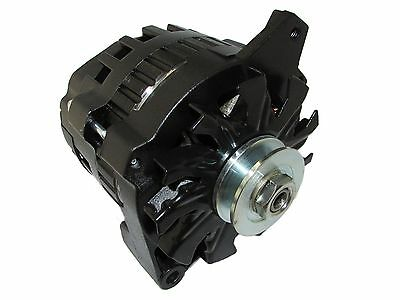 NEW BLACK HIGH OUTPUT ALTERNATOR FIT GM 65-85 1-WIRE ONE WIRE 220 AMP