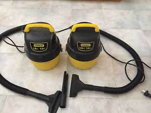 Stanley 1.5hp vacuums $20 for 2