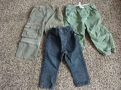 BABY BOYS CLOTHES BUNDLE 12-18 MONTHS - CASUAL TROUSERS . CARGO
