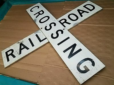 Vintage Railroad Crossing Sign