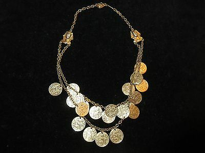 Ehyption Pharoh Gold Coin Necklace Costume Jewelry Mummy Belly dancing Unique - Pharoh Costume